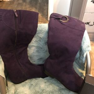 Purple tall boots